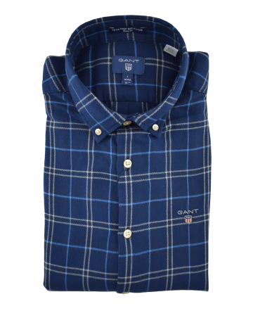 Palace Blue Reflective Check Shirt