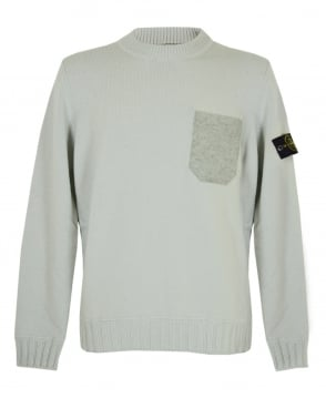 Stone Island Pale Blue 5527A3 Crew Neck Jumper