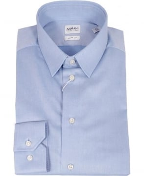 Armani Pale Blue RCC45 Slim Fit Collezioni Shirt