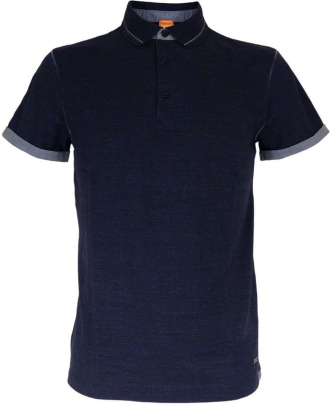 Hugo Boss 'Patcherman 2' Slim Fit Polo Shirt In Navy