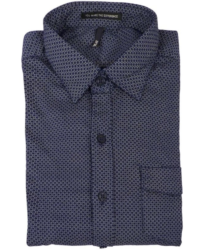 Replay Patterned Shirt In Blue