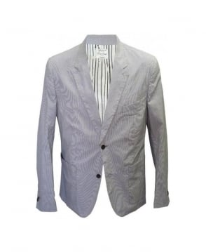 Paul Smith  White & Grey Vertical Stripe Jacket