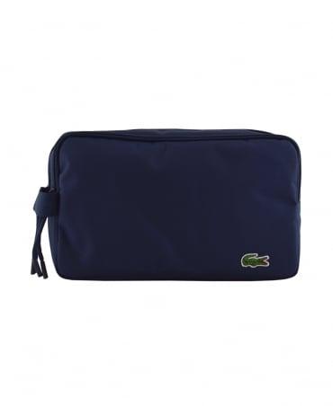Lacoste Peacoat Navy Neocroc Double Zip Toiletry Bag