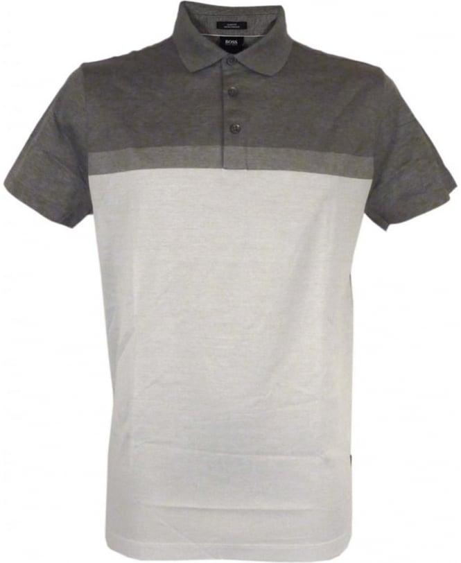 Hugo Boss 'Penrose 03' Slim-fit Polo Shirt In Grey