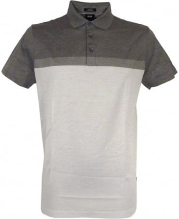 Hugo Boss 'Penrose 03' Slim-fit Polo Shirt In Grey