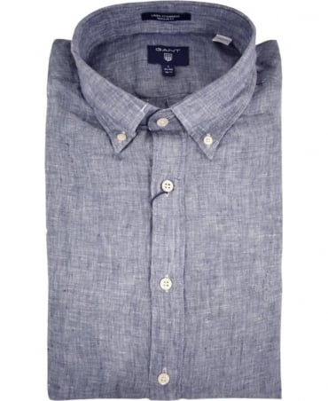 Persian Blue 320000 Linen Shirt