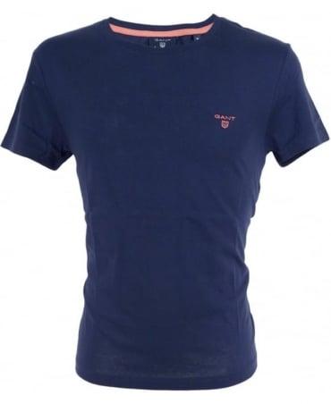 Gant Persian Blue Contrast Logo T-Shirt