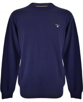 Gant Persian Blue Crew Neck 88201 Knitwear Jumper