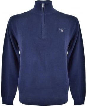 Gant Persian Blue Half Zip 80023 Sweatshirt