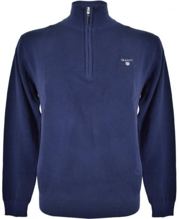 Gant Persian Blue Half Zip 80023 Sweatshirt