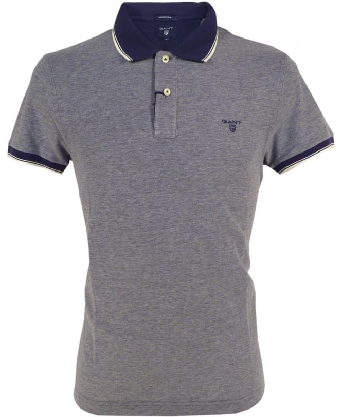 Gant Persian Blue Oxford Pique Polo
