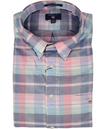 Gant Persian Blue Regular Fit 332040 Madras Paid Shirt