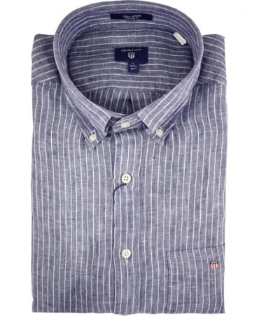 Persian Blue Stripe 320010 Linen Shirt