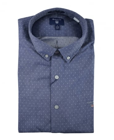 Persian Blue Tech Prep Twill Shirt