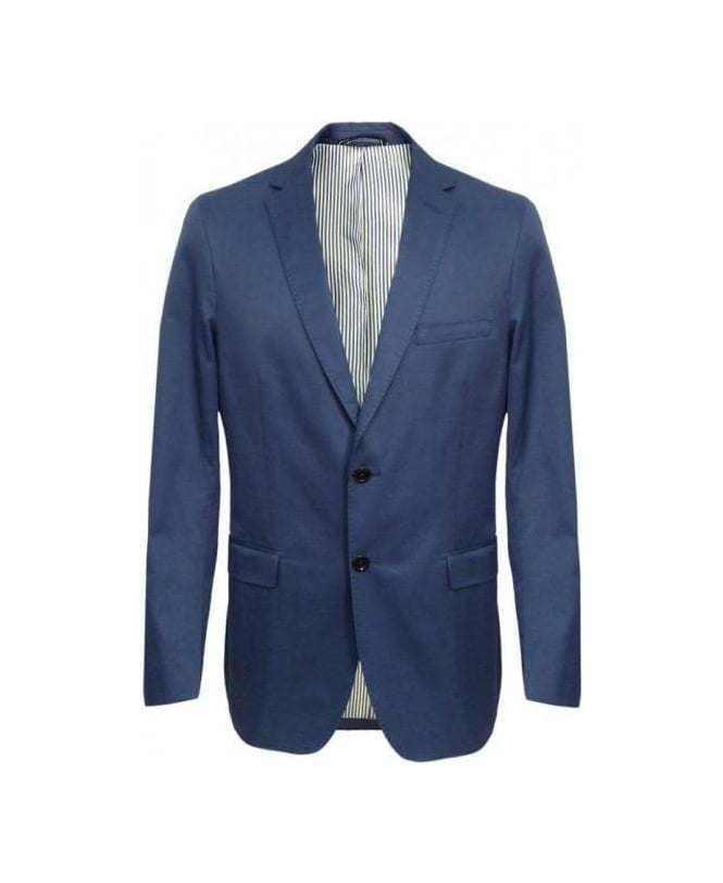 Gant Pilot Blue Cotton Twill Blazer Jacket 76765