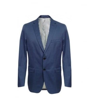 Gant Pilot Blue Cotton Twill Blazer Jacket 76765