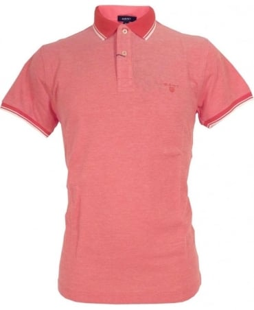 Gant Pink 222107 Oxford Pique Solid Collar Polo
