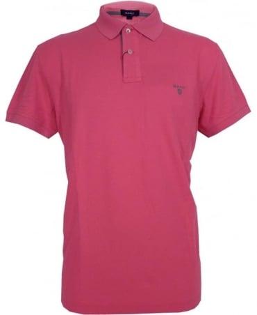 Gant Pink 252105 Contrast Collar Pique Polo