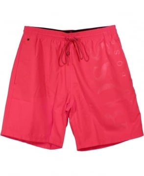 Hugo Boss Pink 50264656 Orca Self Logo Swim Shorts