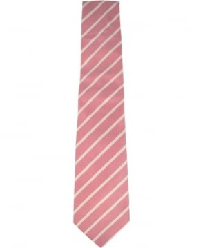 Paul Smith  Pink And White Striped Tie