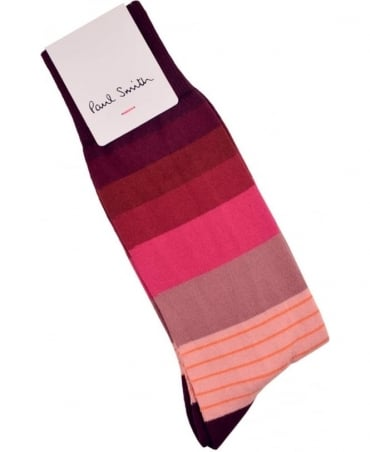Paul Smith  Pink ARXC-380-K277 Twin Block Socks
