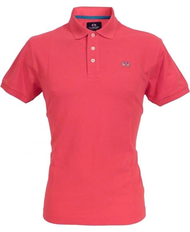 La Martina Pink CCMP02 Slim Fit Chest Logo Polo