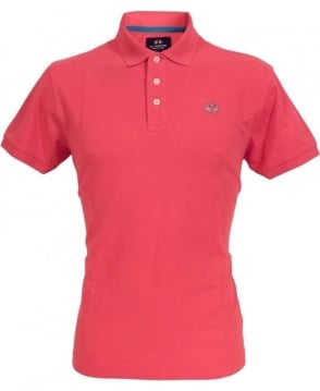 La Martina Pink CCMP02 Slim Fit Chest Logo Polo