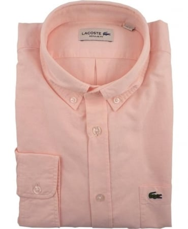 Lacoste Pink CH2286 Oxford Cotton Shirt