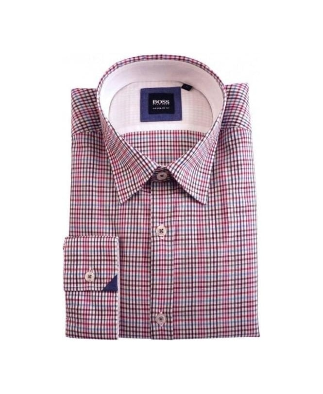 Hugo Boss Pink Check Obert Shirt