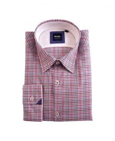 Hugo Boss Pink Check Obert Shirt