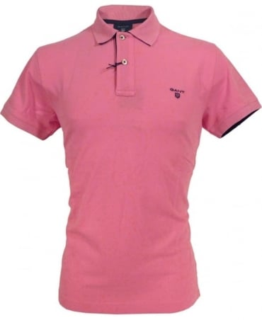 Gant Pink Contrast Under Collar Polo