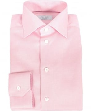 Eton Shirts Pink Fine Pattern Contemporary Fit Shirt