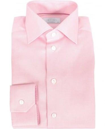 Eton Shirts Pink Fine Pattern Contemporary Fit Shirt