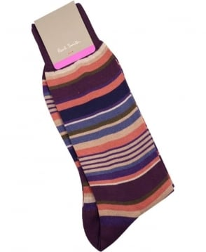 Paul Smith  Pink & Lilac Stripe APXA/800E/K180 Socks