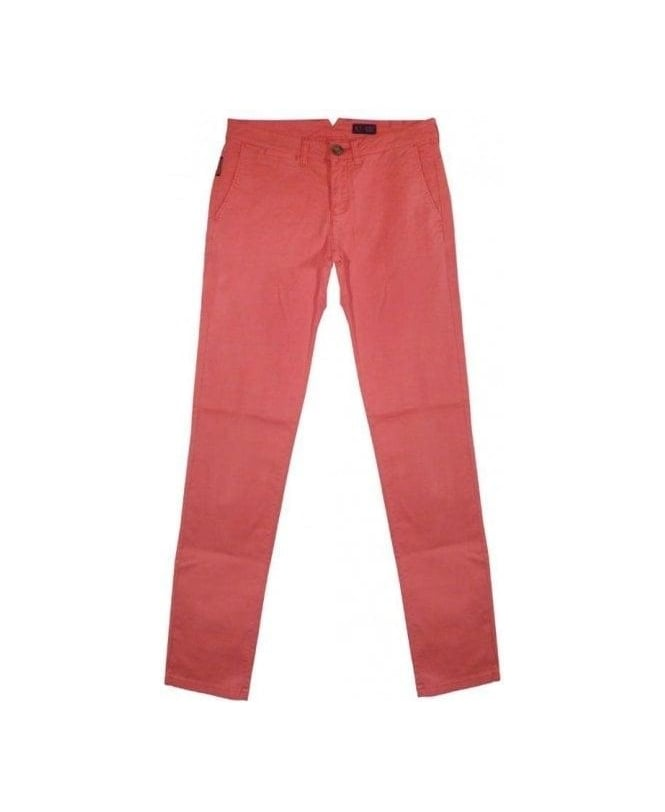 Armani Pink P20 Slim Fit Chinos