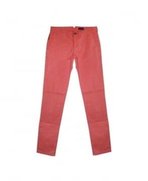 Armani Pink P20 Slim Fit Chinos
