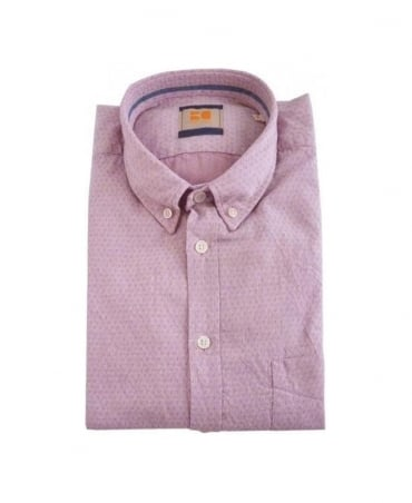Hugo Boss Pink Pattern Equatore Shirt