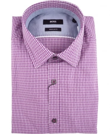 Hugo Boss Pink Patterned Check Lorenzo