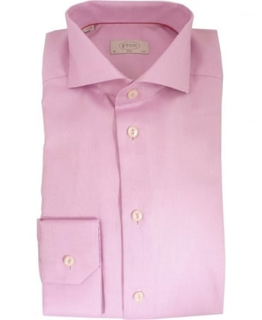 Eton Shirts Pink Patterned Slim Fit 3137735735 Shirt