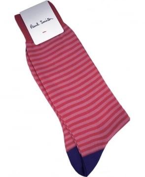 Paul Smith  Pink Stripe ASXC/800E/K405 Socks