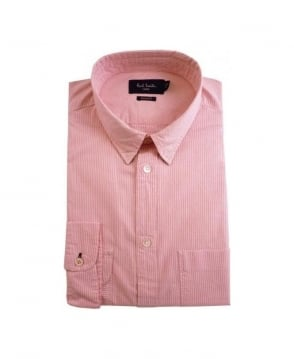Paul Smith - Jeans Pink Stripe LS Standard Fit Shirt