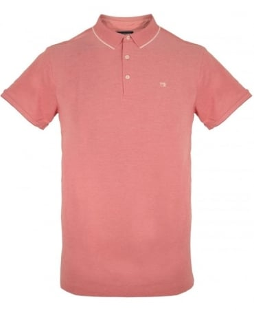 Scotch & Soda Pink With Contrast 136526 Polo Shirt