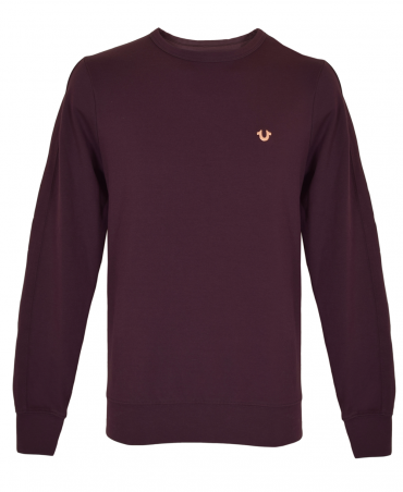 Plum Metal Horseshoe Sweatshirt