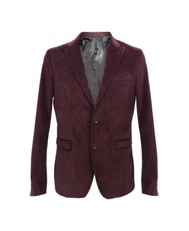 Hamaki-Ho Plum Two Button Slim Fit Blazer GA447H