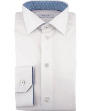 Eton Poplin Contemporary Fit Shirt In White