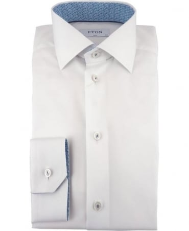 Eton Shirts Poplin Slim Fit Shirt In White