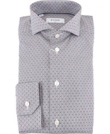 Eton Shirts Poplin Slim Fit Shirt With Bee Print