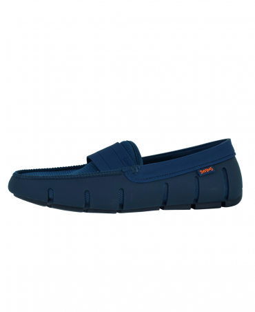 Poseidon / Navy Stride Single Band Loafers