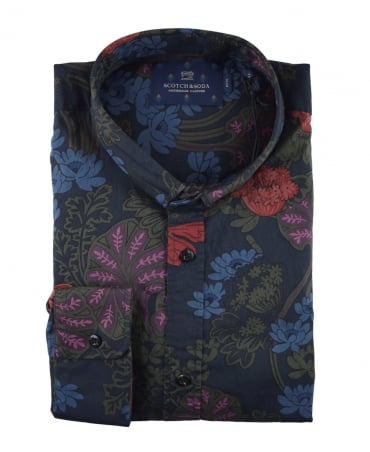 Scotch & Soda Printed 139587 Flower Shirt