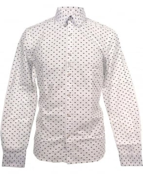 Scotch & Soda Printed Hands 20302 Regular Fit Shirt
